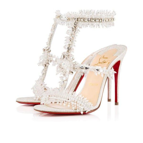 db3152c1611 Christian Louboutin devibroda Version Silver 100mm Glitter Womens Sandals