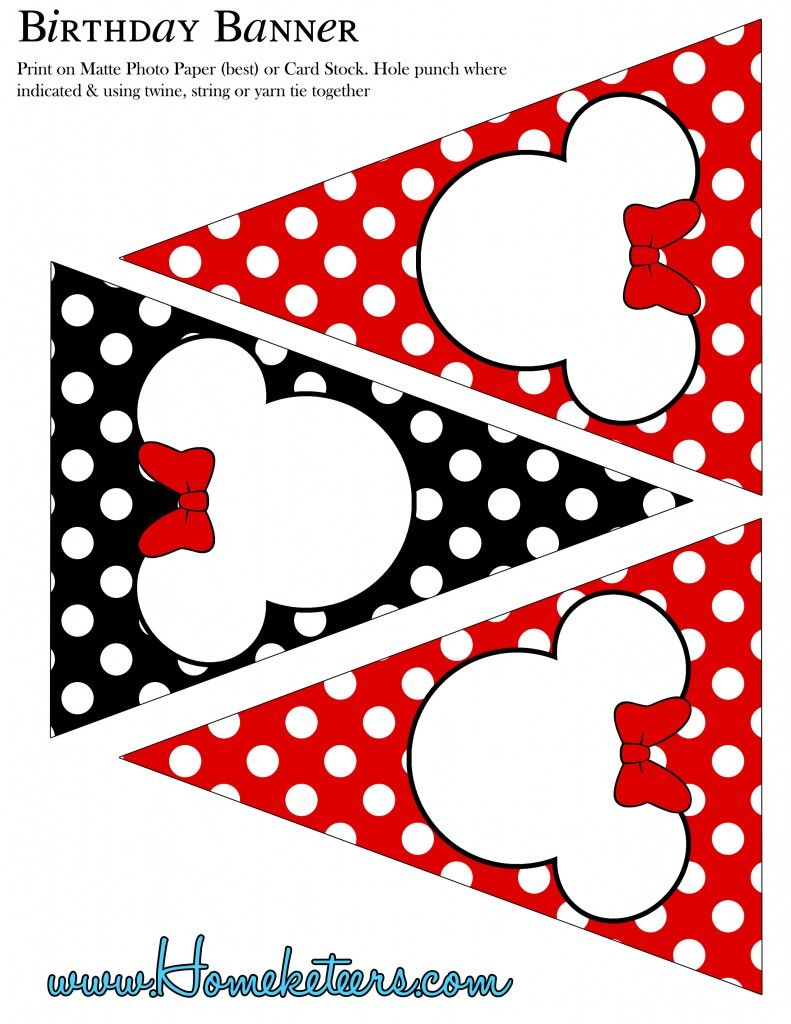 MINNIE MOUSE PARTY PRINTABLE KIT (BLOG LINKS FREE KIT ONLINE STORE ...