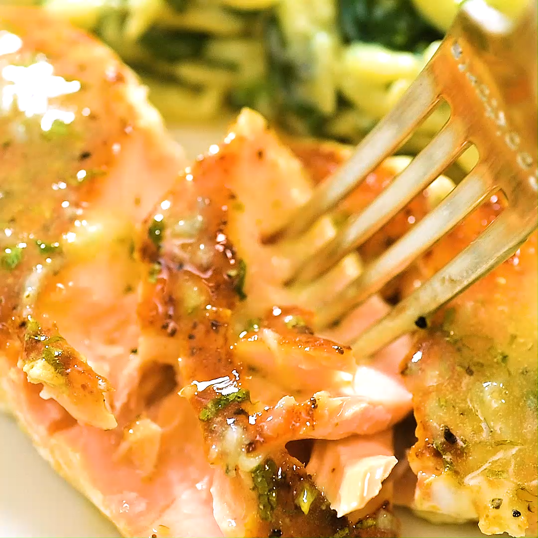 Salmon with Lemon Butter Sauce #salmonrecipes