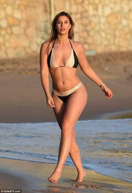 Beach bikini black girl gold woman