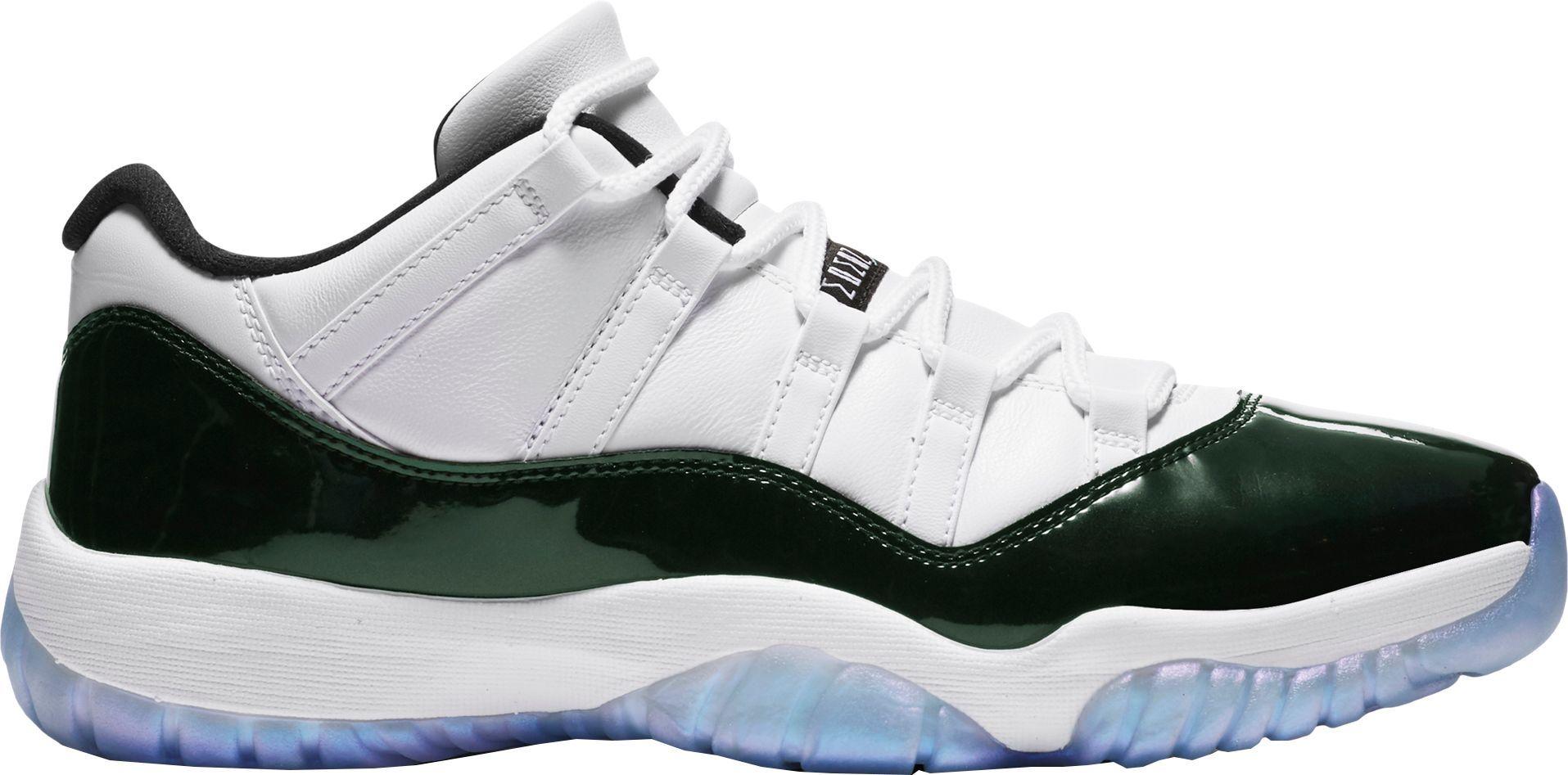 hot sales 91d25 aa4eb Jordan Men s Air Jordan 11 Retro Low Basketball Shoes, Size  18, White
