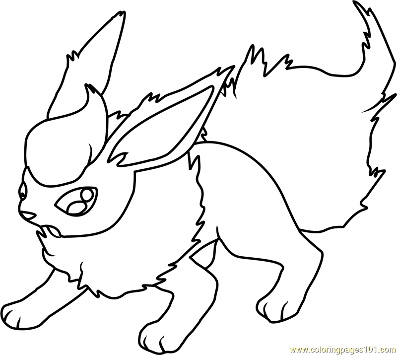 Flareon Pokemon Coloring Pokemon Coloring Pages Coloring Pages