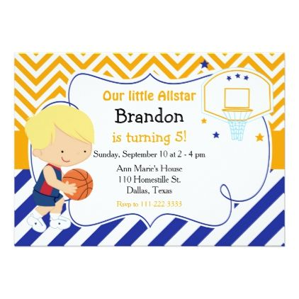Basketball cute blonde boy birthday party card birthday cards basketball cute blonde boy birthday party card birthday cards invitations party diy personalize customize celebration bookmarktalkfo Image collections