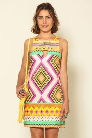vestido quadradinho guarani