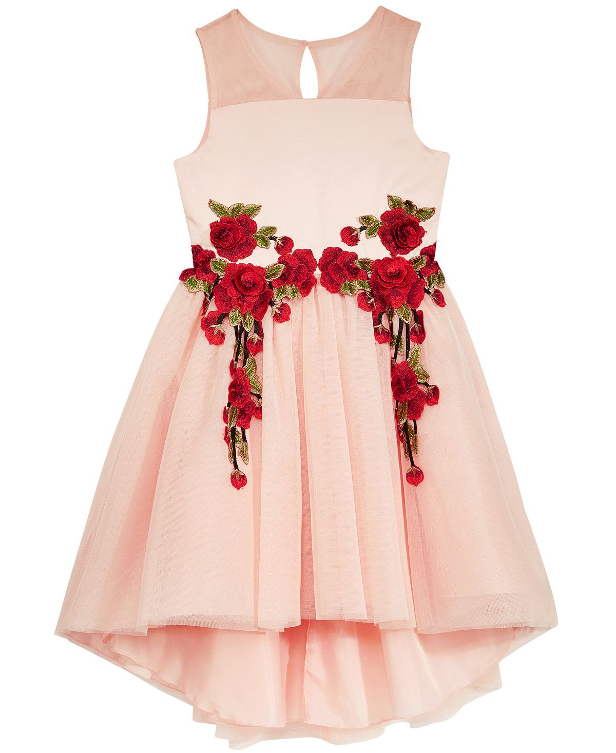605f7d087171 Rose Appliqué Party Dress
