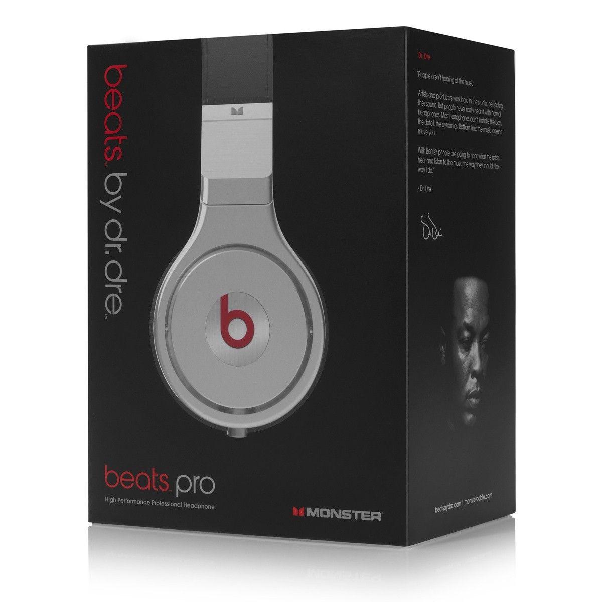 Le casque Beats Pro vous offre un son superbe, avec une réponse de basses et un son profonds d'un bout à l'autre du spectre sonore.