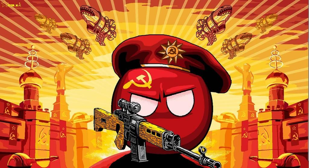 polandball Soviet Union from Red Alert 3 by SevonianBall