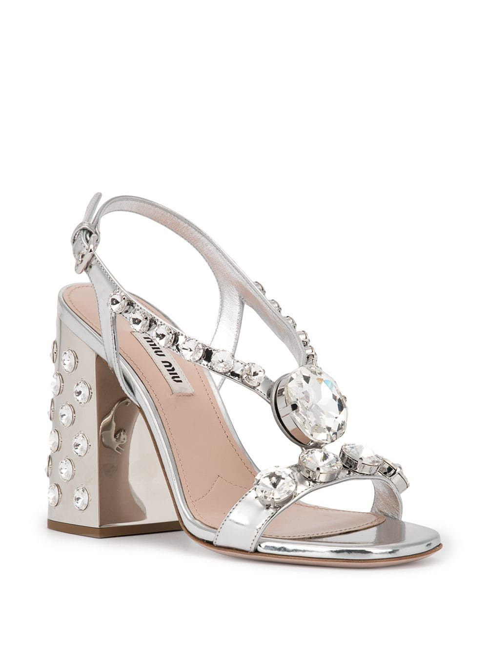 e713d7a5d3a Miu Miu Embellished Leather Sandals in 2019 | Hello Lover | Sandals ...