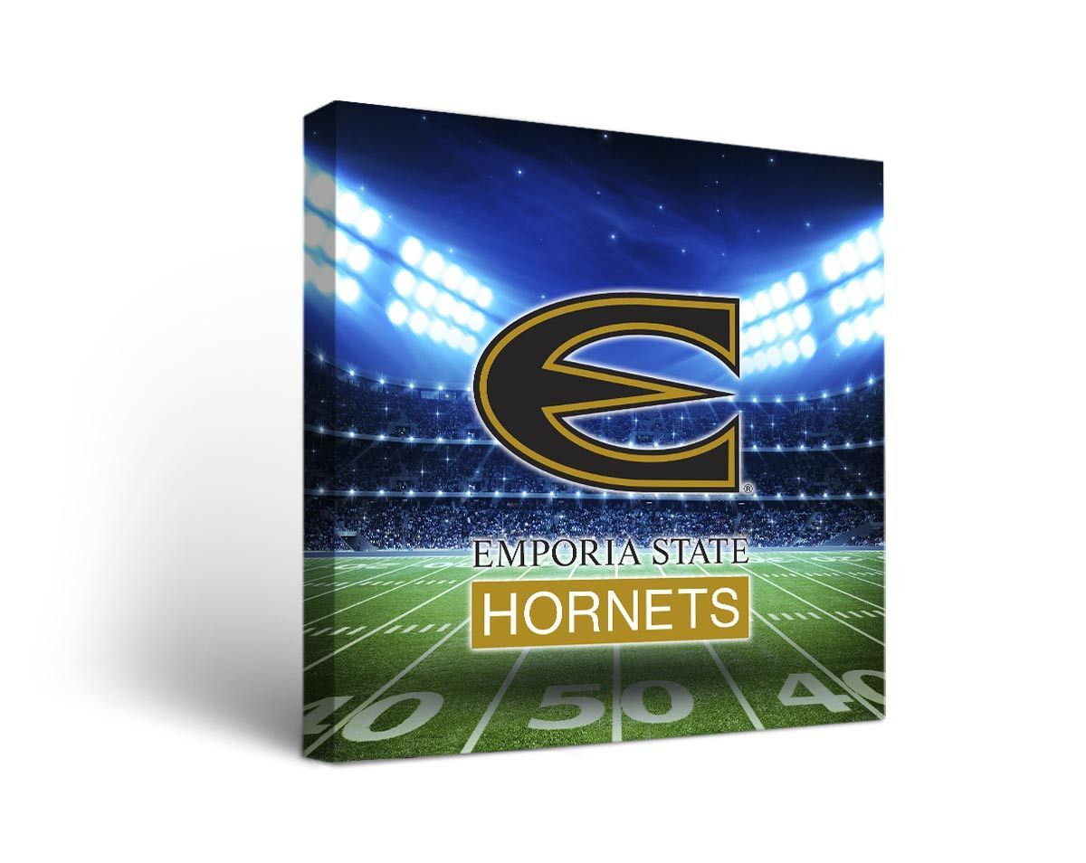 Emporia State Hornets Football Stadium Canvas Art Square