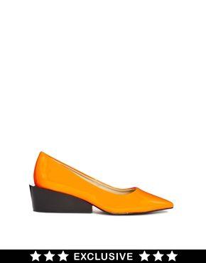 Cheap Monday Exclusive Orange Cat Kitten heel Shoes