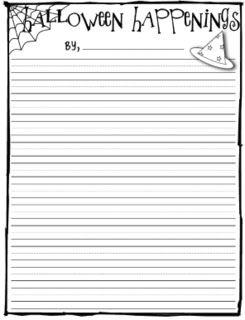 Mrs. Heeren's Happenings: Halloween Writing Paper   Fall party ...
