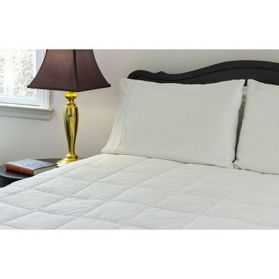Outlast Temperature Regulating Mattress Pad Full White With