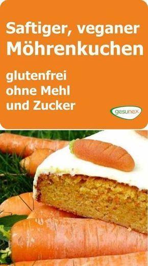 Saftiger, veganer Möhrenkuchen - glutenfrei, ohne Mehl und Zucker #sundtslik
