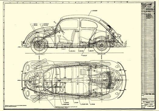Vw Beetle Blueprint Google Search Vw Kafer Volkswagen Karmann Ghia Vw Porsche