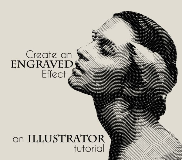how to create an engraved illustration effect in