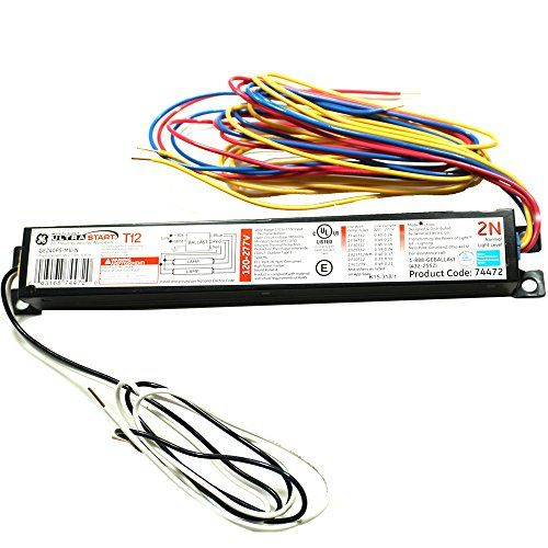 Ge Lighting 74472 Ge240rs Mv N 120 277 Volt Multi Volt Proline Electronic Fluorescent T12 Programmed Rapid Start Ballast 2 Or 1 Ge Lighting Ballast Fluorescent