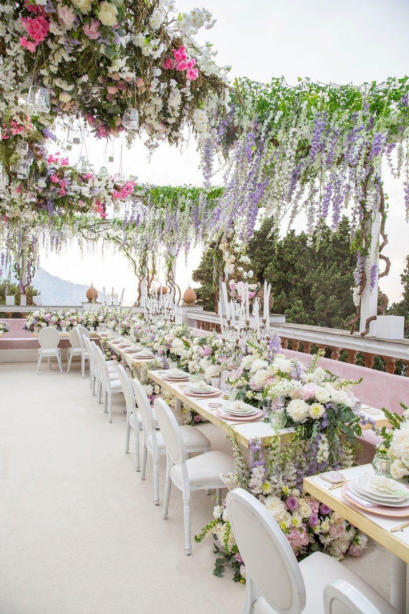 Inside Hong Kong Based It Girl Feiping Chang S Wedding Extravaganza In Capri Wedding Decor Inspiration Creative Wedding Favors Wedding Decorations