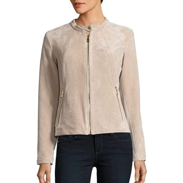 Ivanka Trump Womens Suede Jacket