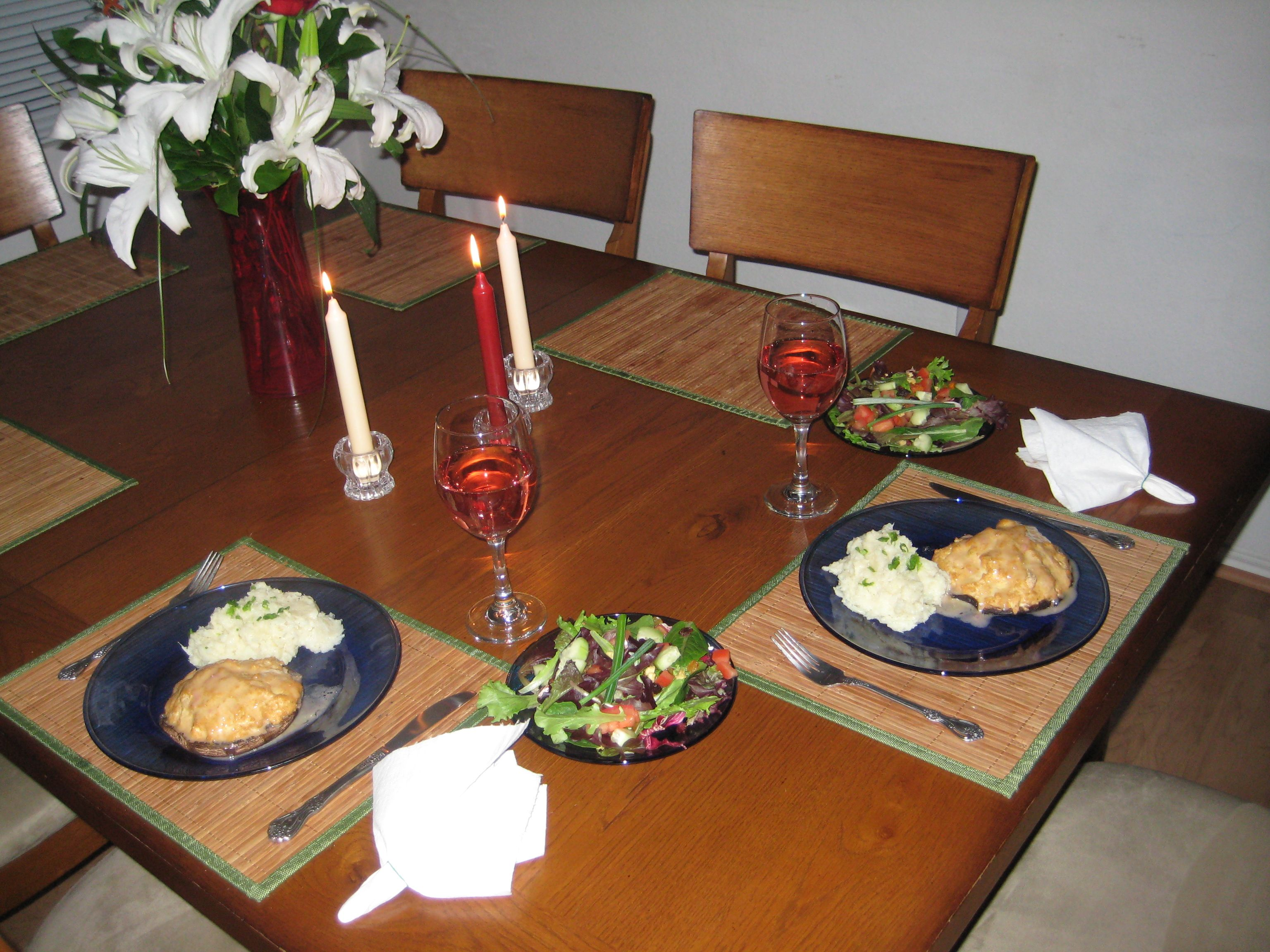 Valentines dinner, 2009