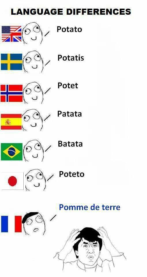 Frrrrransk Potet Language Jokes New Funny Memes Language