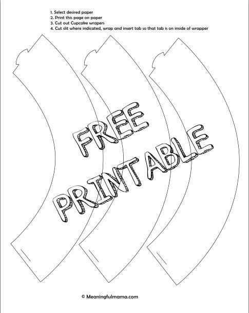 make your own cupcake liner with free printable cupcake liners