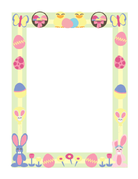 Easter Border Holiday Lettering Easter Signs Coloring Easter Eggs