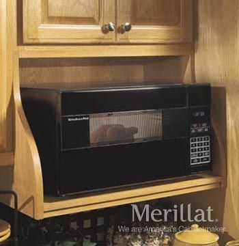 Wall Microwave Shelf - Masterpiece® Accessories - Merillat® cabinetry. Save counter space while positioning the microwave at eye level.