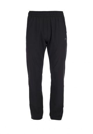 Спортивные брюки свободного кроя от Li-Ning подходят для тренировок. Модель выполнена из эластичной ткани черного цвета. Детали: широкий-пояс резинка дополнен шнурком на внутренней части, два кармана, вставки из перфорированной ткани сзади, молнии на нижнем крае. http://j.mp/1nlmmZN
