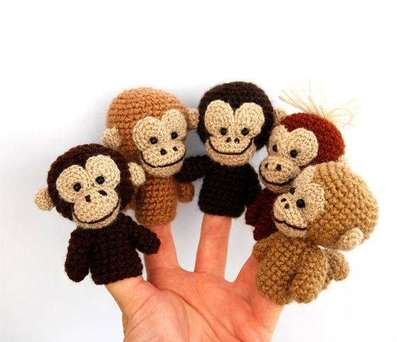 5 Little Monkeys Finger Puppets | Kid Crave | Finger puppet