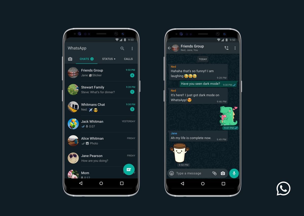 Whatsapp Dark Mode Now Available For Ios And Android Di 2020 Gelap Aplikasi Android