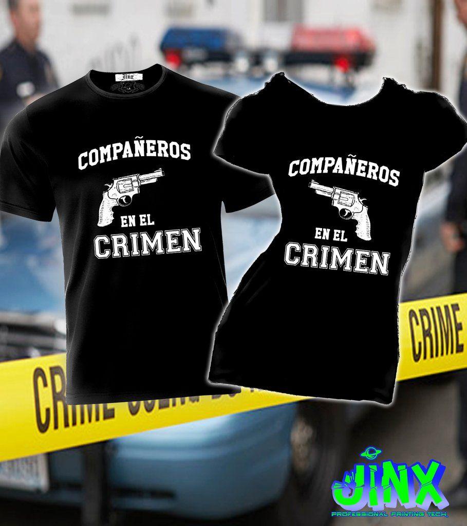 5b021d1af894d  299.00 2 Playeras Para Pareja Compañeros en el Crimen - Jinx