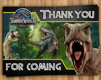 Jurassic World Invitation Personalized Invitation 5x7 Or 4x6