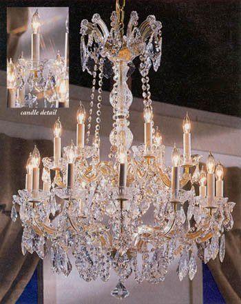 Maria Theresa Crystal Chandelier W Swarovski Crystal Chandeliers