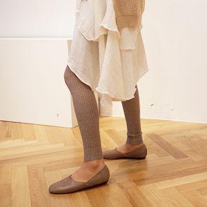 Elastic Ribbed Knit Leggings