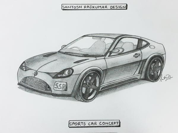 Illustration Affordable Indian Sports Car Concept Sketch Cars - Sports cars in india