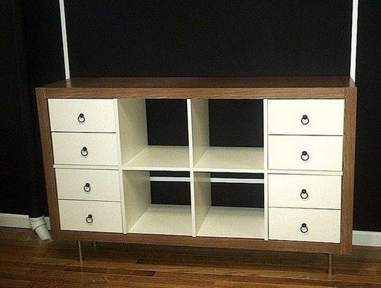 Ikea expedit : 6 façons de la customiser! ici 2x6 cases avec des ...