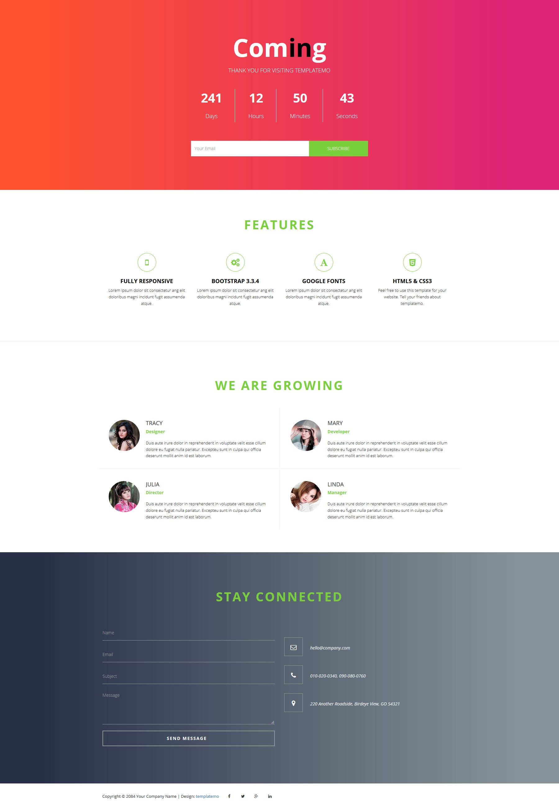 447 Coming Template Css Templates Css Website Templates Bootstrap Template