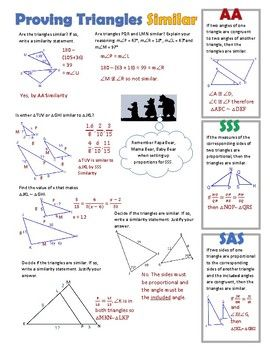 Prove Triangles Similar Via Aa Sss And Sas Similarity Theorems Notes Are More Fun When Doo Mathematics Worksheets Technical Analysis Indicators Doodle Notes