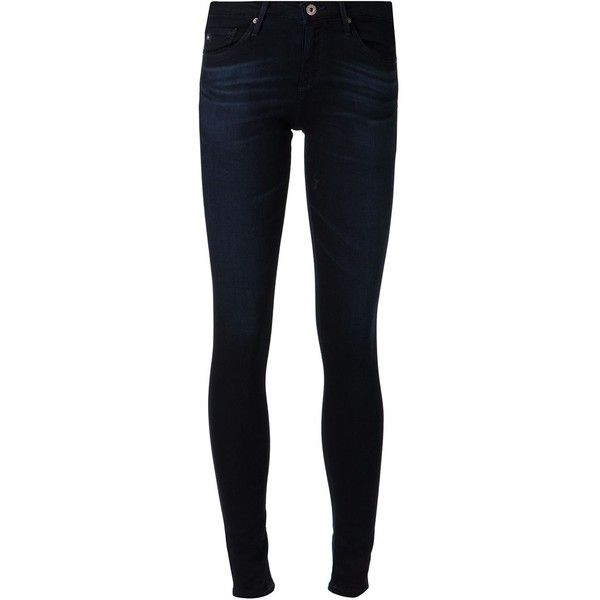 Ag Jeans 'Absolute' legging skinny jeans ($250) ❤ liked on Polyvore featuring jeans, pants, bottoms, blue, black skinny leg jeans, black denim skinny jeans, blue skinny jeans, zipper skinny jeans and 5 pocket jeans