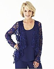 Nightingales Lace Waterfall Blouse | Fifty Plus
