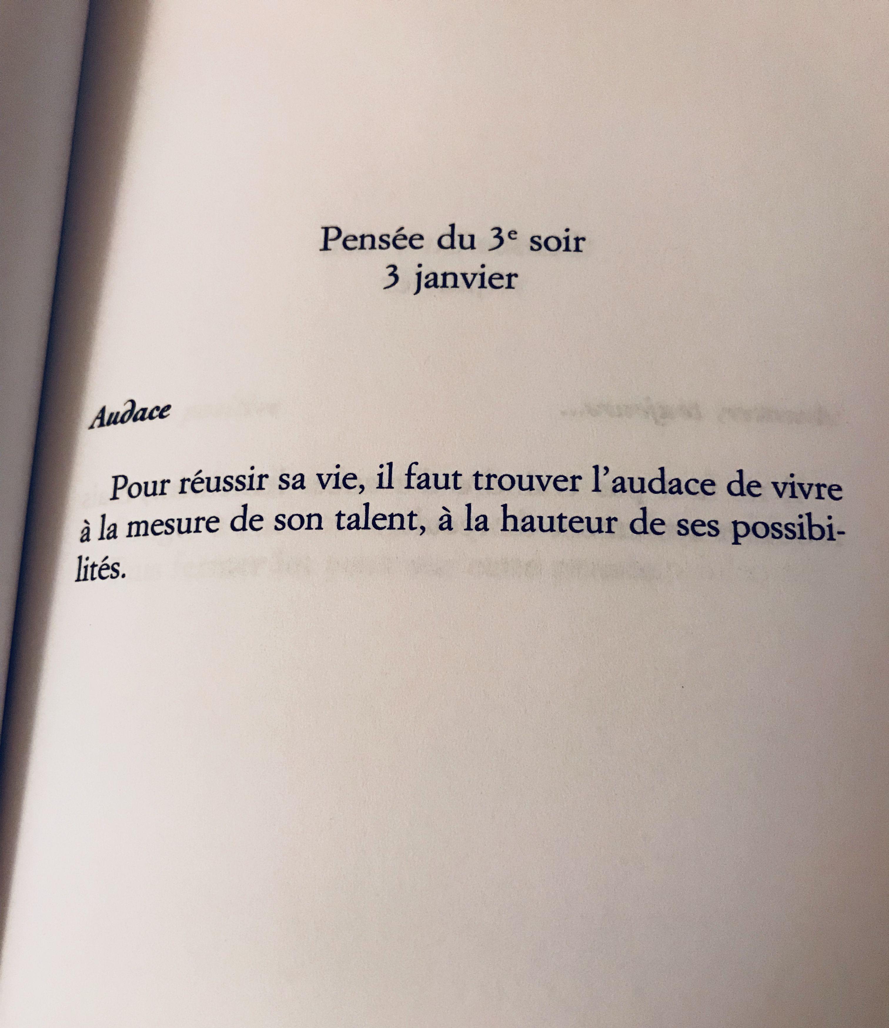 Pensée Du 3e Soir 3 Janvier Citation Citations