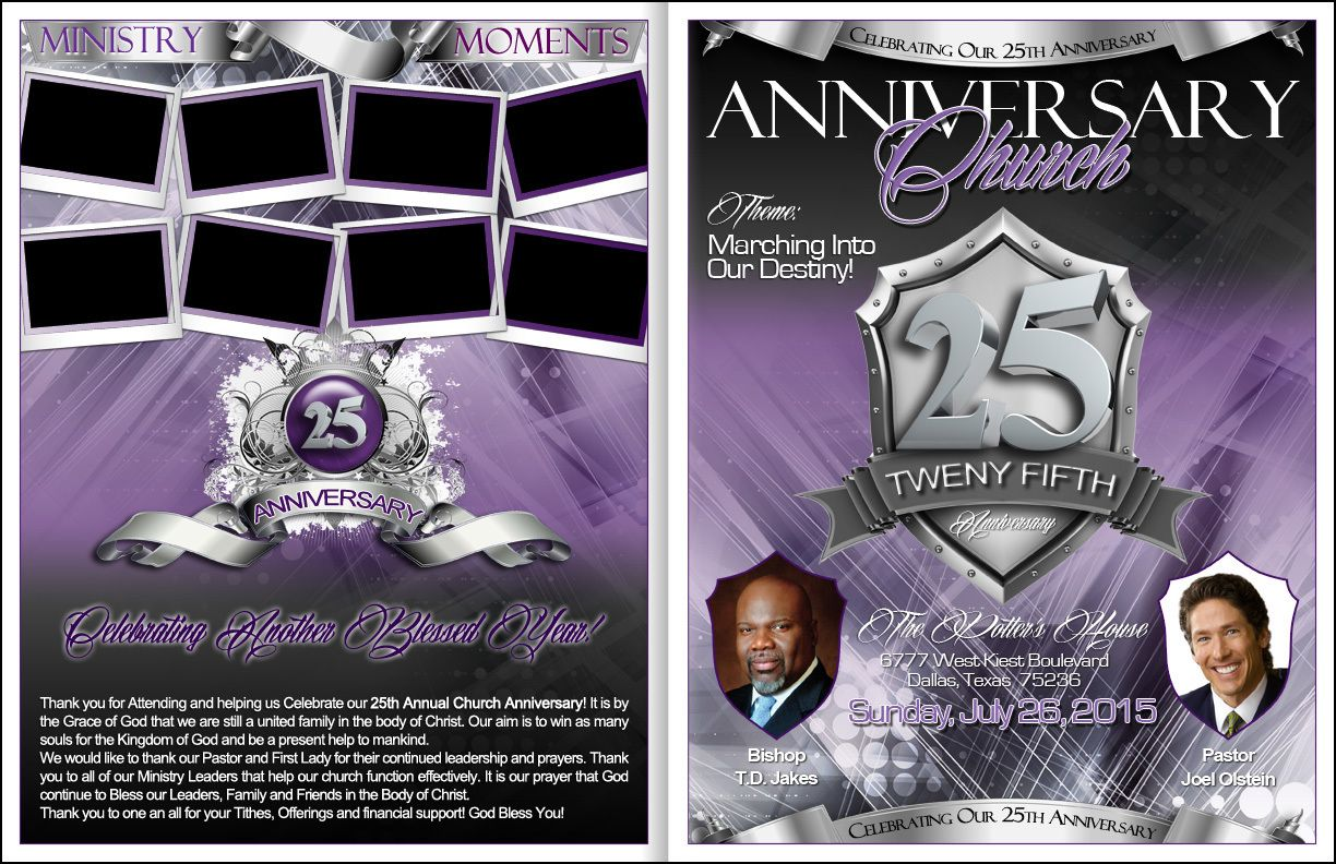 25th Church Anniversary Program Kingdomprograms Com