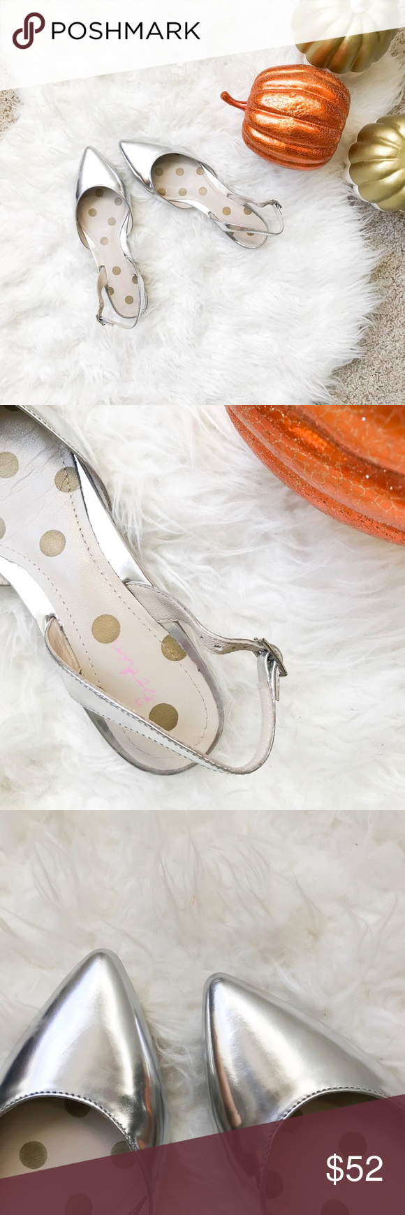 7152292428b Boden Hilary Slingbacks in Silver These gorgeous Hilary slingbacks are the  perfect metallic silver for your Fall wardrobe! Sold out online