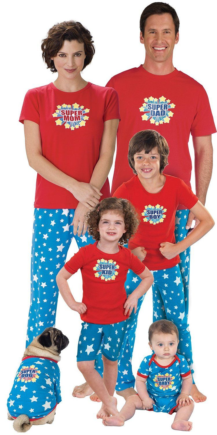 Superhero Matching Pajamas for the Whole Family Family