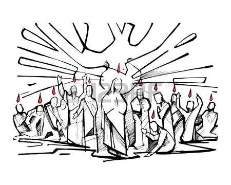Resultado de imagem para dibujos pentecostes