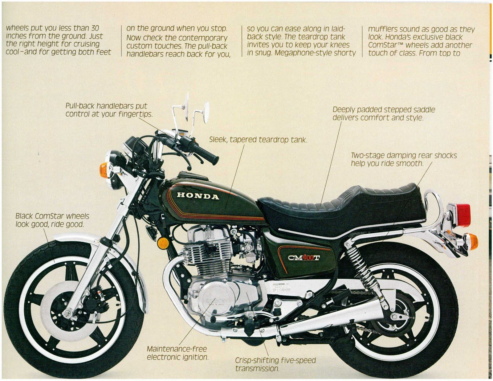 of hawks dreams honda cm400 brochure 1979 riding inspiration rh pinterest com CM400T Parts Honda CM400T Cafe Racer