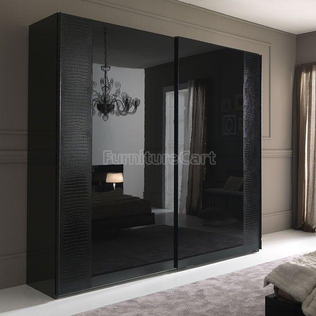Nightfly Sliding Door Wardrobe Black Wardrobe Door Designs
