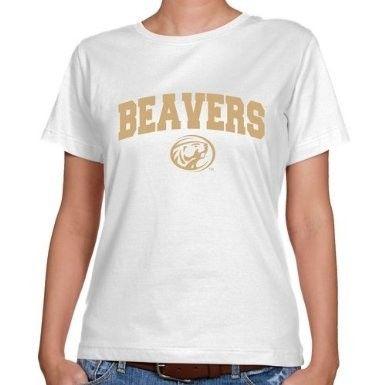 NCAA Bemidji State Beavers Ladies White Logo Arch Classic Fit T-shirt  $19.95