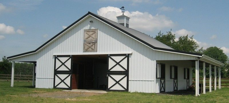 horse barn ideas | Horse Barn with Hay Storage & Stalls - perfect ...