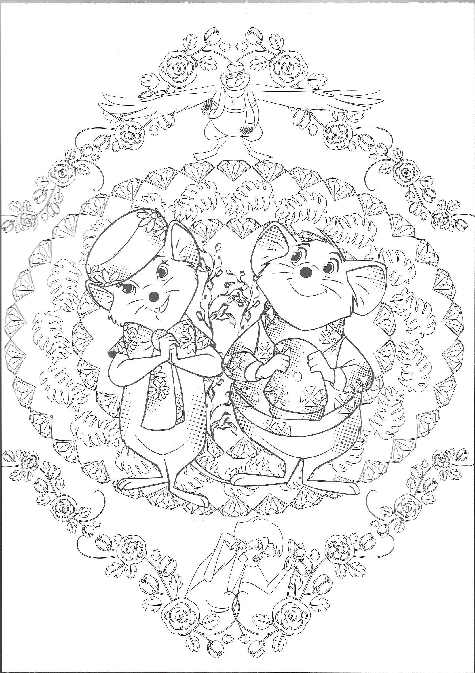Rescuers Grayscale Coloring Page Grayscale Coloring Disney Coloring Pages Coloring Pages